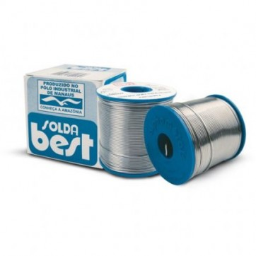 Estanho para Solda 189MSX10 60x40 diametro de 1.00mm Best Carretel Azul de 1/2 Kg
