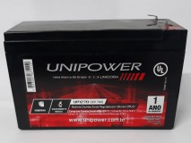 Bateria Estacionária VRLA 12V 7Ah UP1270 UNIPOWER