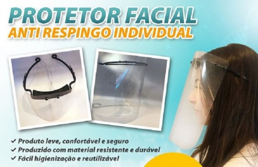 protetor facial anti respingos máscara petG  0,50mm mascara anti respingos