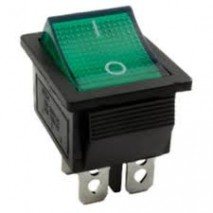 Chave Gangorra KCD4-201N 4T 15A/30A 250V VERDE