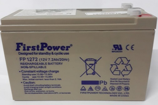 bateria estacionaria FP1272 12V 7,2Ah firstpower / 20Hr