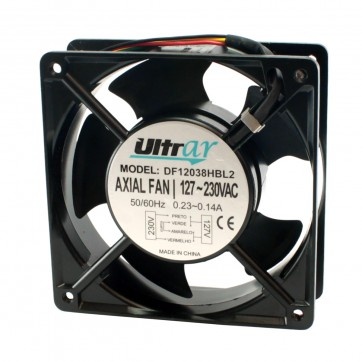 Microventilador axial DF12038HBL2 /TZ1238HA1A2BAL 120X120X38 BIVOLT ROLAMENTO